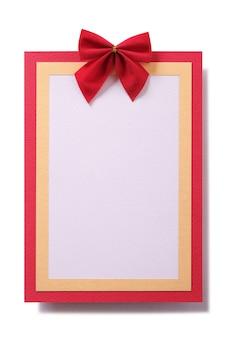 Cartolina di natale rossa cornice verticale