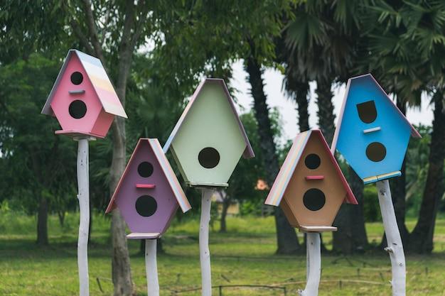 Casa degli uccelli colorati.