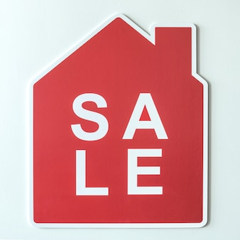 Casa in vendita simbolo dell'icona