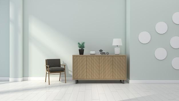 Casa moderna, fresca e semplice, arredata con mobili laterali