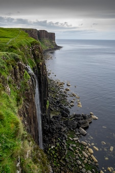Cascata del pasto. skye island. scozia