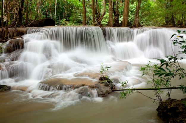 Cascata tropicale tailandia