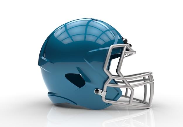 Casco da football americano blu
