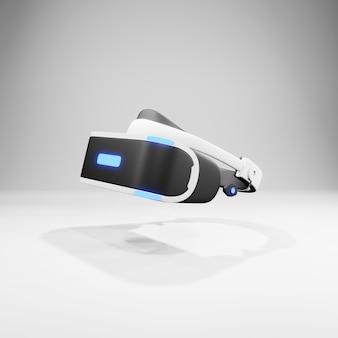 Casco di realtà virtuale isolato su fondo bianco rappresentazione di vr 3d