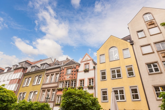 Case a dusseldorf altstadt, il centro storico della città vecchia