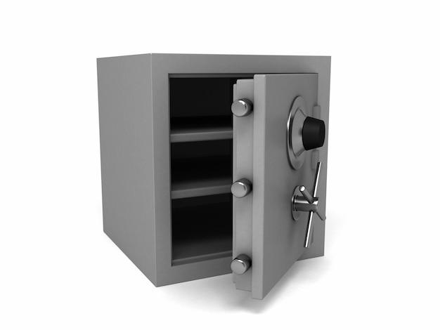 Cassetta di sicurezza di sicurezza. illustrazione di rendering 3d