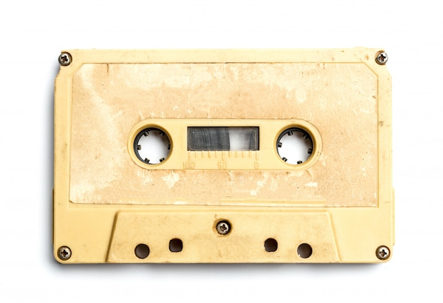 Cassetta vintage isolato