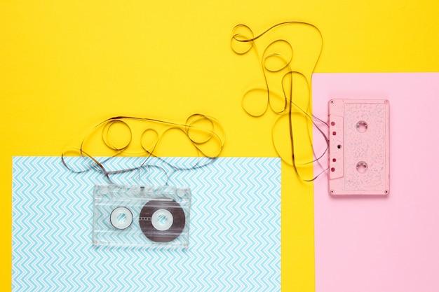 Cassette audio retrò con film