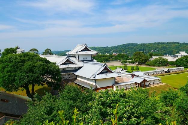 Castello di kanazawa a kanazawa, prefettura di ishikawa, giappone