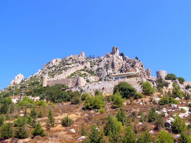 Castello di sant'ilario, cipro del nord, castello di sant'ilario, turchia