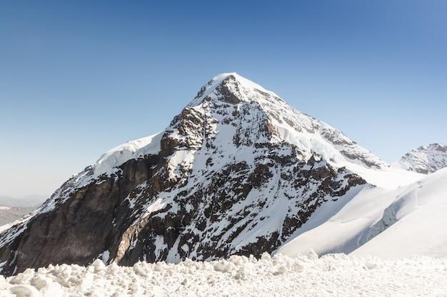 Catena montuosa delle alpi svizzere, jungfraujoch, svizzera