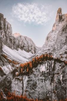 Catena montuosa marrone