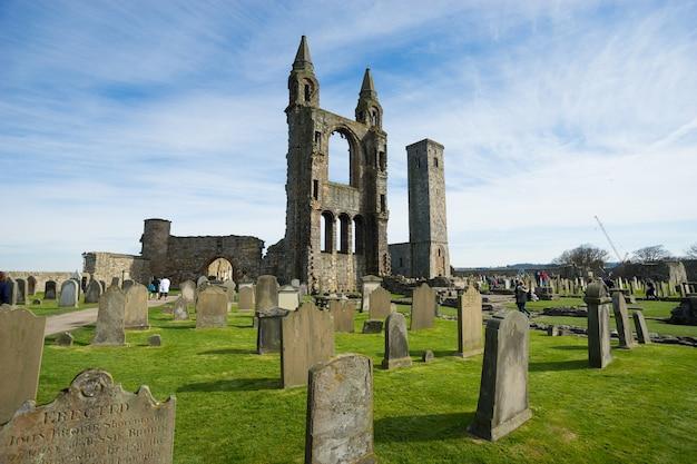 Cattedrale di andrew in scozia il giorno soleggiato