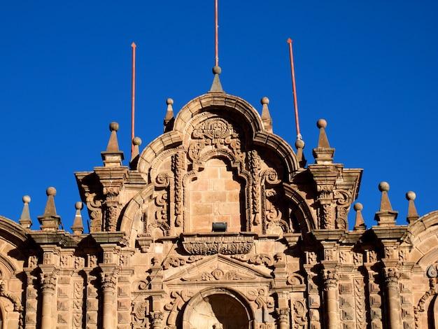 Cattedrale di cusco, l'antica chiesa di cusco, in perù