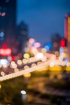 Cavalcavia di interscambio di shanghai e strada sopraelevata nel crepuscolo