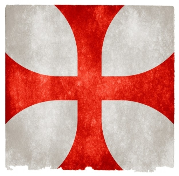 Cavalieri templari grunge, bandiera,