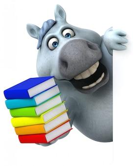 Cavallo divertente con libri