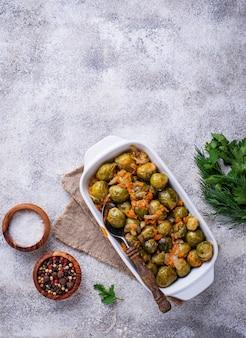 Cavolini di bruxelles al forno con carota