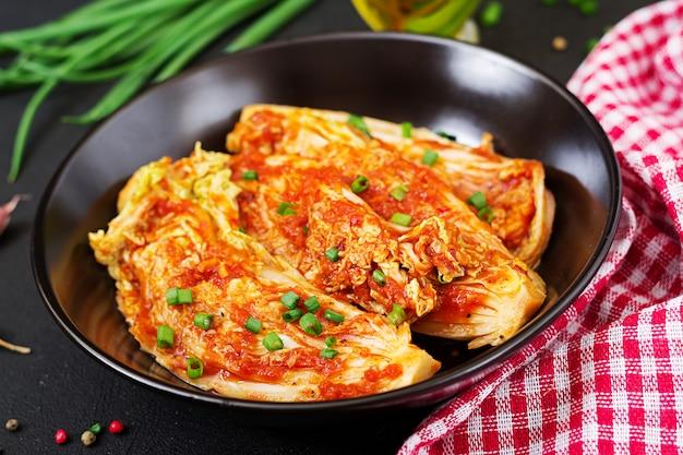 Cavolo cinese. cavolo kimchi. cibo tradizionale coreano