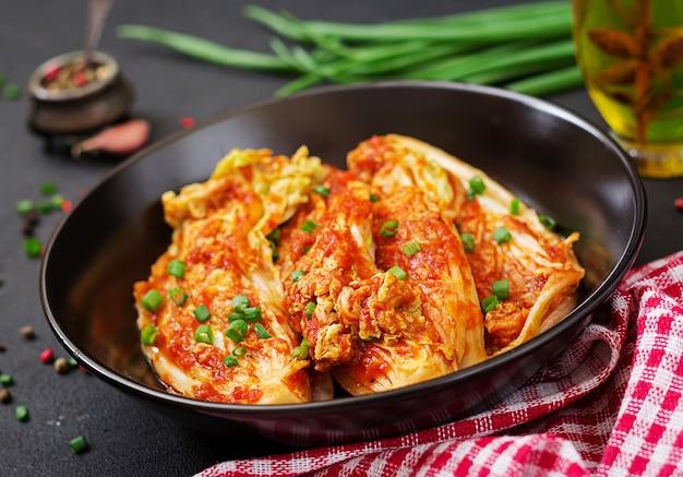 Cavolo cinese. kimchi cavolo cibo tradizionale coreano