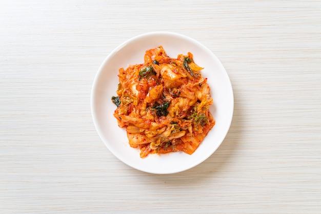 Cavolo kimchi sulla piastra
