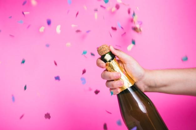 Celebrazione con champagne