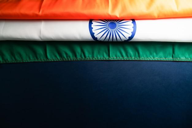 Celebrazione della festa della repubblica dell'india il 26 gennaio, festa nazionale indiana, bandiera dell'india