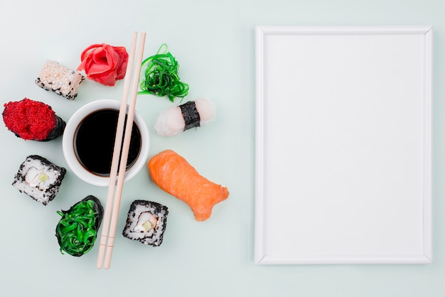 Celebrazione della giornata internazionale del sushi con cornice