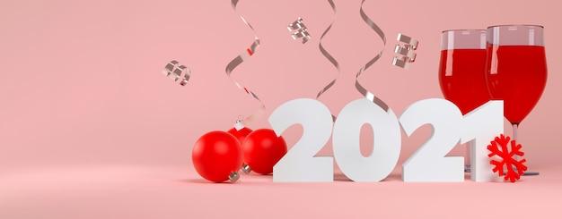 Celebrazione di nuovo anno bicchiere di vino rosso