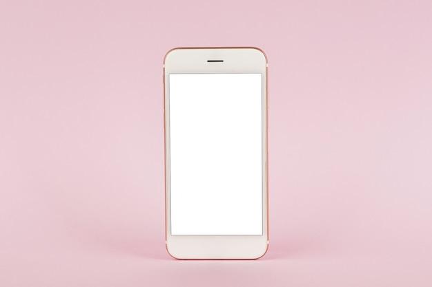 Cellulare su rosa pastello, tecnologia e affari
