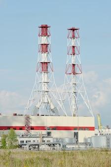 Centrale termoelettrica sud-occidentale a san pietroburgo, russia