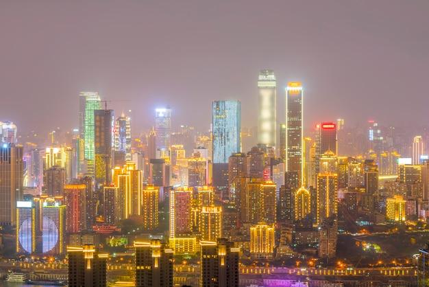 Centro aziendale vista riflessione architettura notte