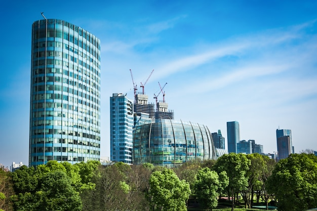 Centro business moderno in hongkong