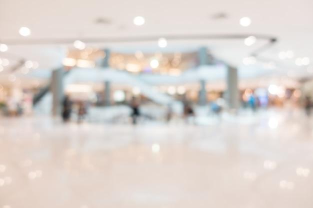 Centro commerciale astratto sfocatura e negozio al dettaglio