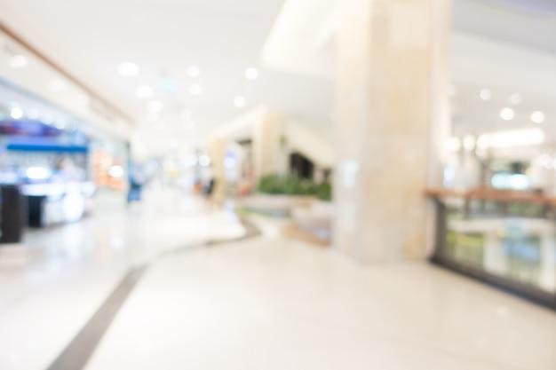 Centro commerciale astratto sfocatura
