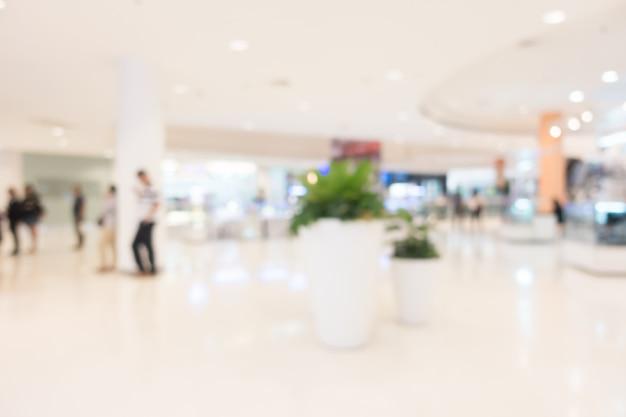 Centro commerciale di sfocatura