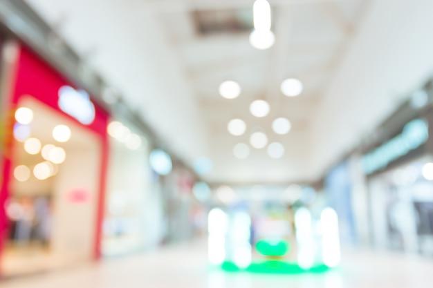 Centro commerciale sfocato per