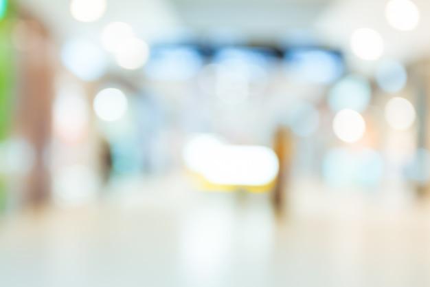 Centro commerciale sfocato sfondo