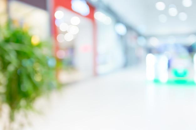 Centro commerciale sfocato