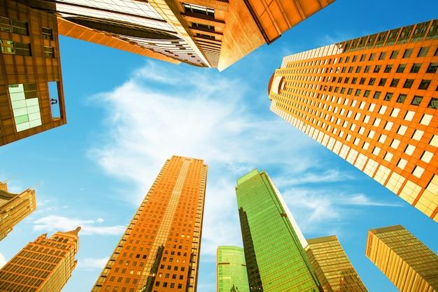Cerchi i grattacieli più bassi, città di shanghai