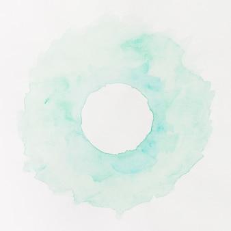 Cerchio blu pastello sfondo acquerello