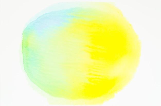 Cerchio di texture acquerello isolato su sfondo bianco
