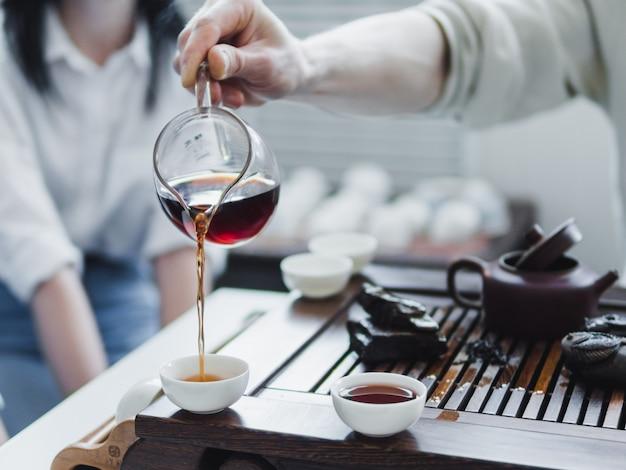 Cerimonia del tè cinese puerh