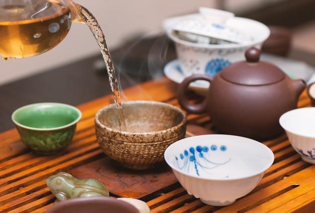Cerimonia del tè cinese.