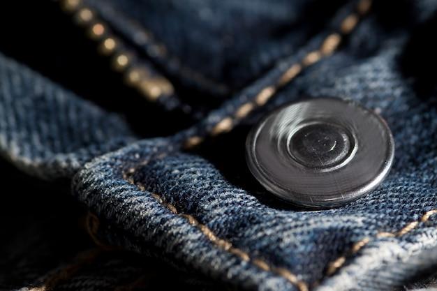 Cerniera e bottone in jeans