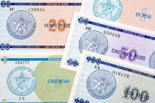 Certificato di cambio da cuba un background aziendale