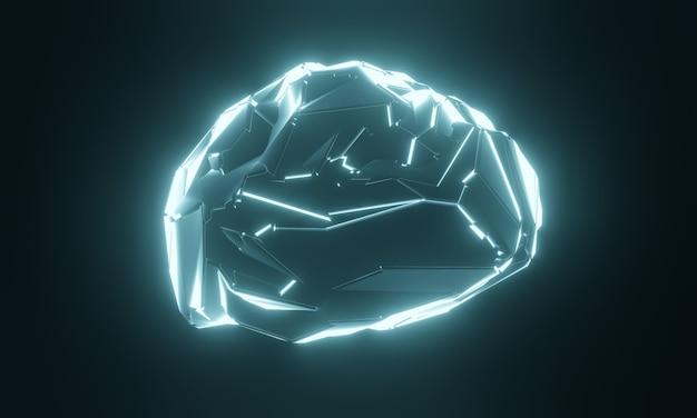 Cervello umano artificiale di fantascienza.