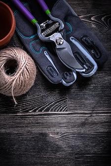Cesoie di potatura per guanti di sicurezza torba pot matassa di corda