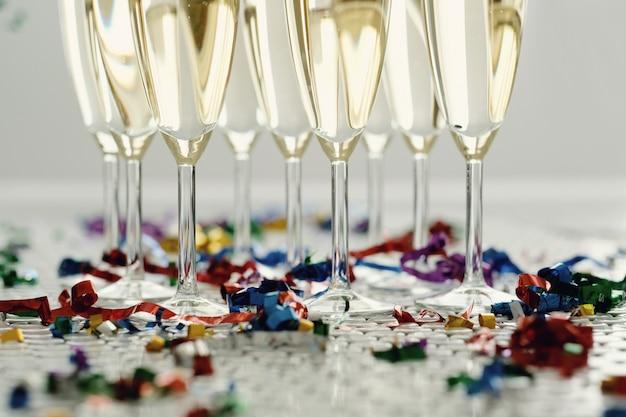 Champagne in bicchieri