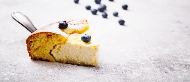 Cheesecake con mirtilli